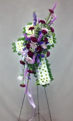 Lavender And Daisy Cross  from Carl Johnsen Florist in Beaumont, TX
