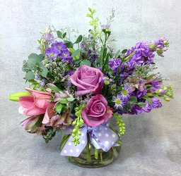 Lavender And Purple Blooms  from Carl Johnsen Florist in Beaumont, TX