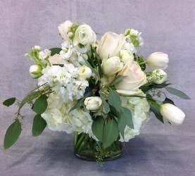 Shades Of White Arrangement  from Carl Johnsen Florist in Beaumont, TX