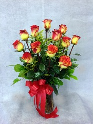 Dozen High And Magic Roses from Carl Johnsen Florist in Beaumont, TX