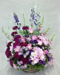 Shades Of Purple Basket  from Carl Johnsen Florist in Beaumont, TX