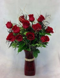 Red Haute Roses from Carl Johnsen Florist in Beaumont, TX