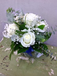 White Rose Nosegay from Carl Johnsen Florist in Beaumont, TX