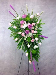Sweet Farewell Standing Spray  from Carl Johnsen Florist in Beaumont, TX