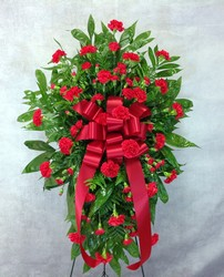 Care And Compassion Standing Spray  from Carl Johnsen Florist in Beaumont, TX