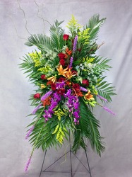 Beautiful Splendor Standing Spray  from Carl Johnsen Florist in Beaumont, TX