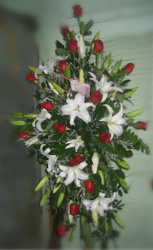 Red and White Spray from Carl Johnsen Florist in Beaumont, TX