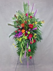 Magnificent Memories Standing Spray  from Carl Johnsen Florist in Beaumont, TX