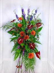 New Sunrise Standing Spray  from Carl Johnsen Florist in Beaumont, TX