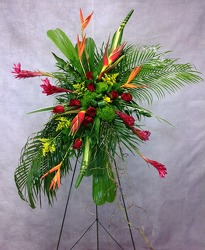 Exotic Tribute Standing Spray  from Carl Johnsen Florist in Beaumont, TX