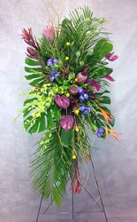 Sacred Garden Standing Spray  from Carl Johnsen Florist in Beaumont, TX