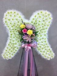 Angel Wings Standing Spray  from Carl Johnsen Florist in Beaumont, TX