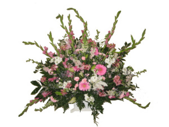 Large Pink & White Basket from Carl Johnsen Florist in Beaumont, TX