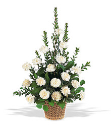 White Simplicity Basket from Carl Johnsen Florist in Beaumont, TX
