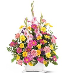 Spring Funeral Basket  from Carl Johnsen Florist in Beaumont, TX