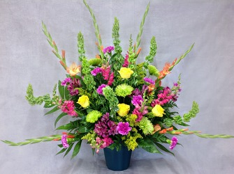 Boldness Of Spring Altar Arrangement  from Carl Johnsen Florist in Beaumont, TX