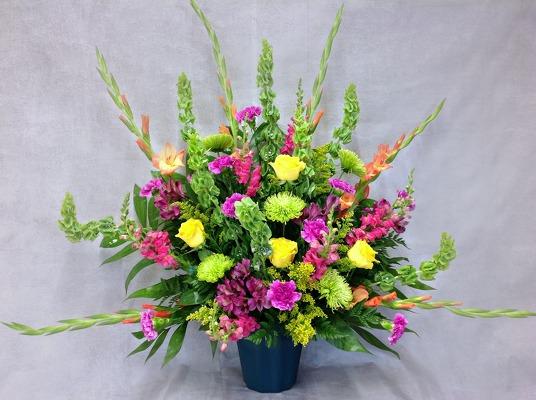 Carl johnsen florist flower shop in beaumont tx local boldness of spring altar arrangement from carl johnsen florist in beaumont tx click here for larger image mightylinksfo
