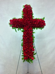 Always Remembered Red Rose Cross  from Carl Johnsen Florist in Beaumont, TX