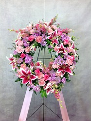 Lovely Memories Wreath from Carl Johnsen Florist in Beaumont, TX
