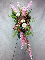 CJS435 Silk Easel Spray from Carl Johnsen Florist in Beaumont, TX