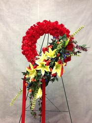 CJS436 Silk Easel Wreath  from Carl Johnsen Florist in Beaumont, TX