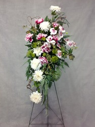 CJS438 Silk Easel Spray  from Carl Johnsen Florist in Beaumont, TX