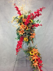 CJS439 Silk Easel Spray  from Carl Johnsen Florist in Beaumont, TX