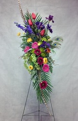 CJS442 Silk Easel Spray  from Carl Johnsen Florist in Beaumont, TX