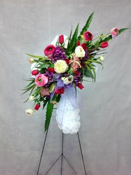 CJS452 Silk Sympathy Cross  from Carl Johnsen Florist in Beaumont, TX