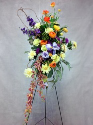 CJS453 Silk Easel Spray  from Carl Johnsen Florist in Beaumont, TX