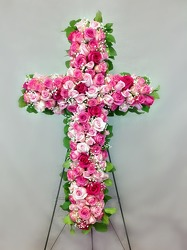Pink Rose Cross from Carl Johnsen Florist in Beaumont, TX