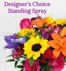Designer's Choice Standing Spray  from Carl Johnsen Florist in Beaumont, TX