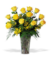 A Dozen Yellow Roses  from Carl Johnsen Florist in Beaumont, TX