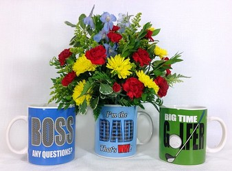 Masculine Mug Arrangement  from Carl Johnsen Florist in Beaumont, TX