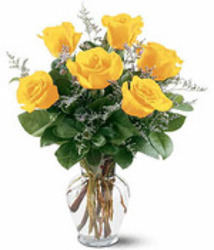 Half Dozen Yellow Roses from Carl Johnsen Florist in Beaumont, TX