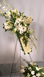 White Sympathy Cross from Carl Johnsen Florist in Beaumont, TX