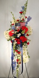 Red, White, And Blue Cross from Carl Johnsen Florist in Beaumont, TX