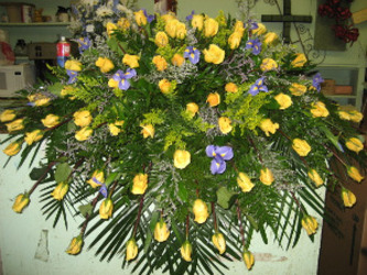 Yellow Roses And Iris from Carl Johnsen Florist in Beaumont, TX