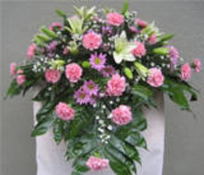 Petite Feminine Casket Cover from Carl Johnsen Florist in Beaumont, TX