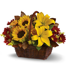 Golden Days Basket from Carl Johnsen Florist in Beaumont, TX