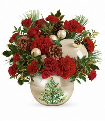 Teleflora's Classic Pearl Ornament Bouquet from Carl Johnsen Florist in Beaumont, TX