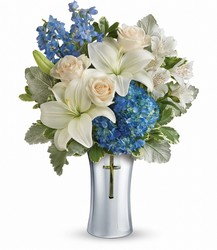 Teleflora's Skies Of Remembrance Bouquet from Carl Johnsen Florist in Beaumont, TX