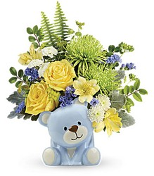 Joyful Blue Bear Bouquet from Carl Johnsen Florist in Beaumont, TX