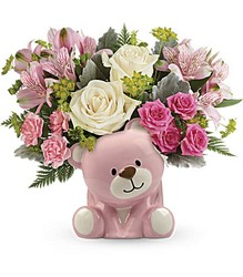 Precious Pink Bear Bouquet from Carl Johnsen Florist in Beaumont, TX