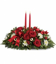 Holiday Shimmer Centerpiece from Carl Johnsen Florist in Beaumont, TX