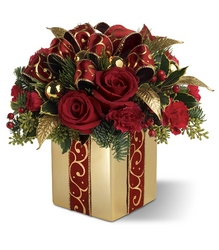 Holiday Gift Bouquet from Carl Johnsen Florist in Beaumont, TX
