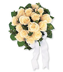 Bountiful White Roses Nosegay from Carl Johnsen Florist in Beaumont, TX