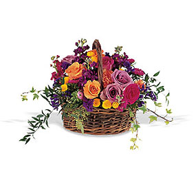 Garden Gathering Basket from Carl Johnsen Florist in Beaumont, TX