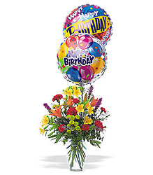 Birthday Balloon Bouquet from Carl Johnsen Florist in Beaumont, TX