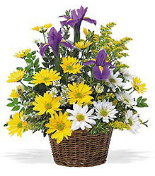 Smiling Spring Basket from Carl Johnsen Florist in Beaumont, TX